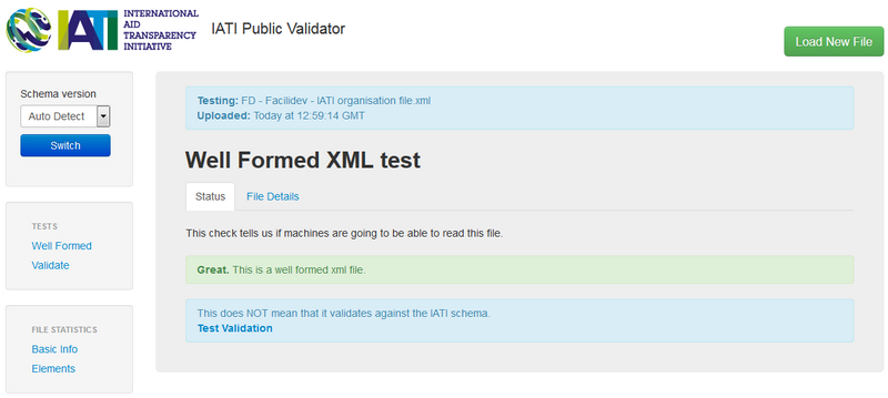 Validate if your file is a well-formed xml file